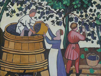The Wine Harvest 1, Oil painting